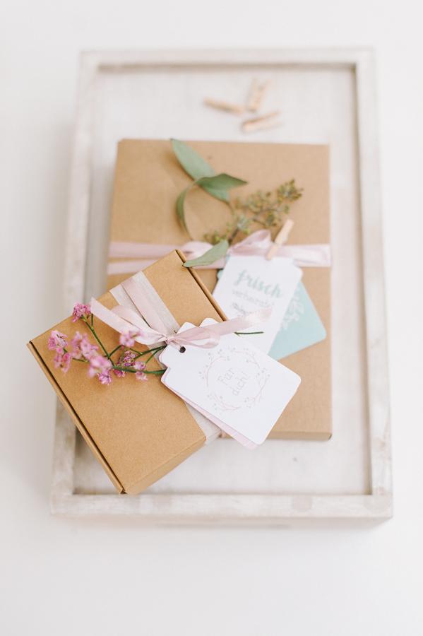 Kraftpapier Geschenkschachtel