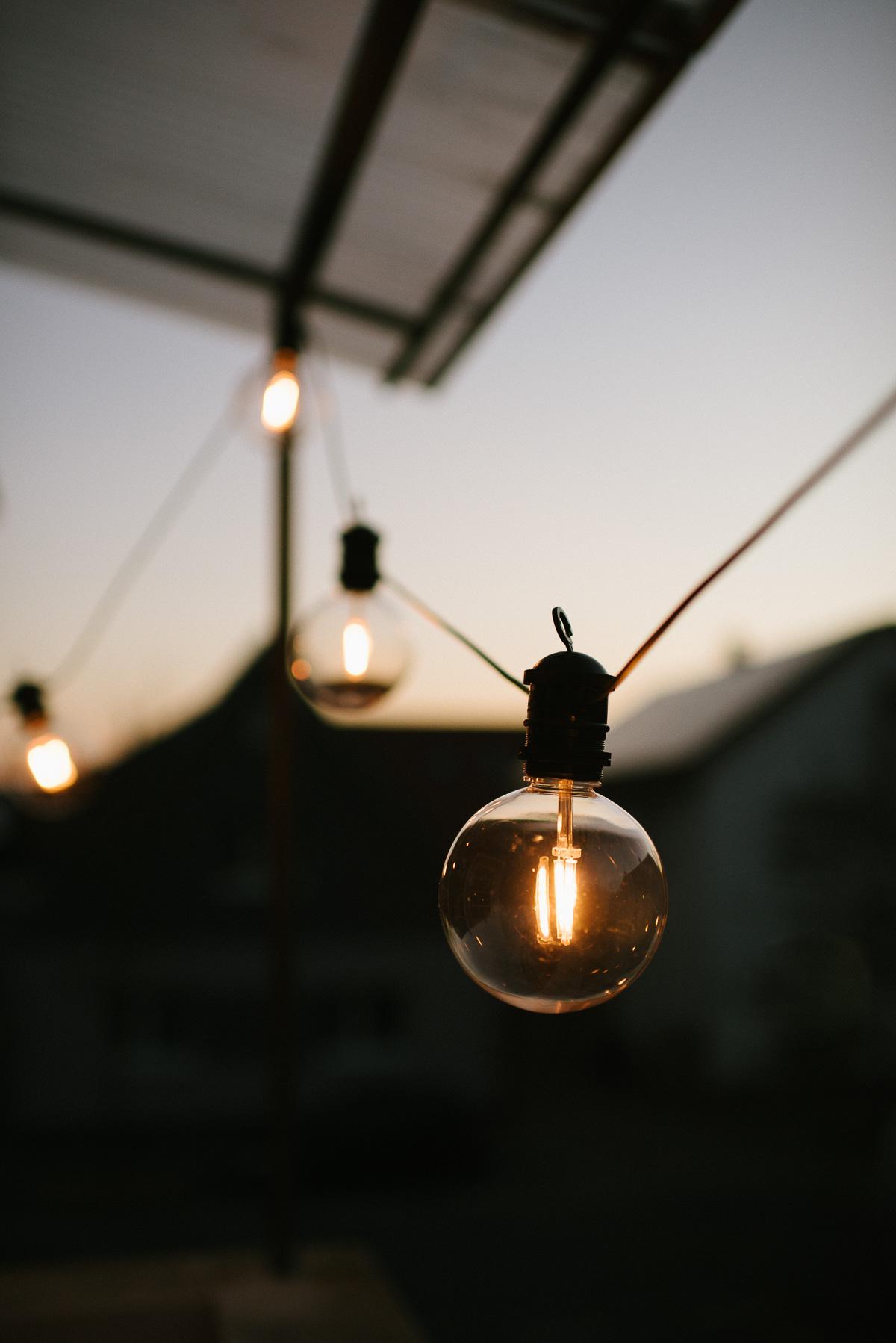 Lichterkette für Instagram fotografieren