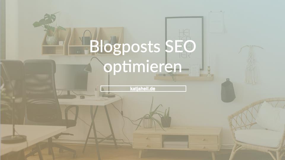 Gratis Guide Blogposts SEO optimieren