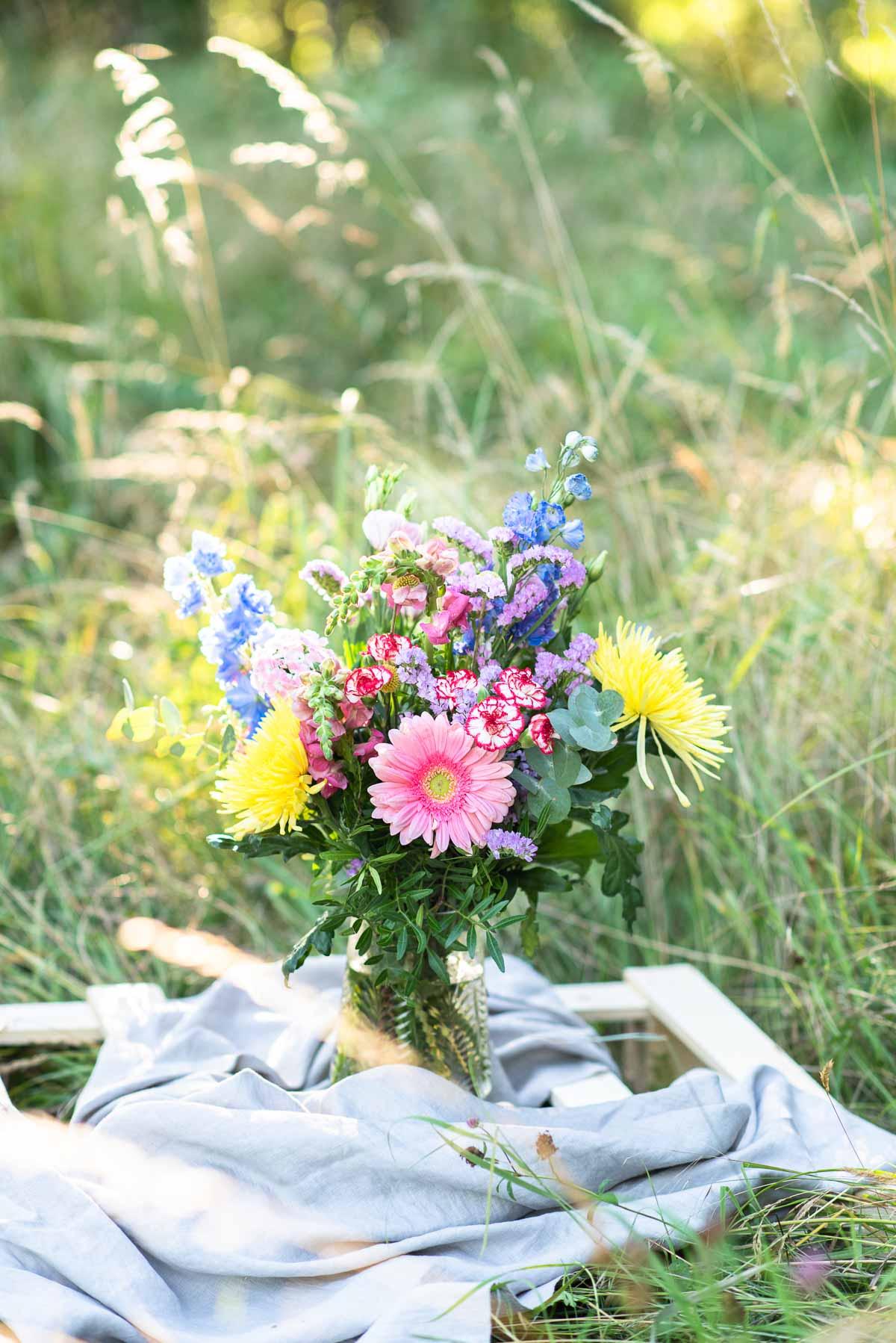 Blumenstrauß im Gegenlicht Fotografieren