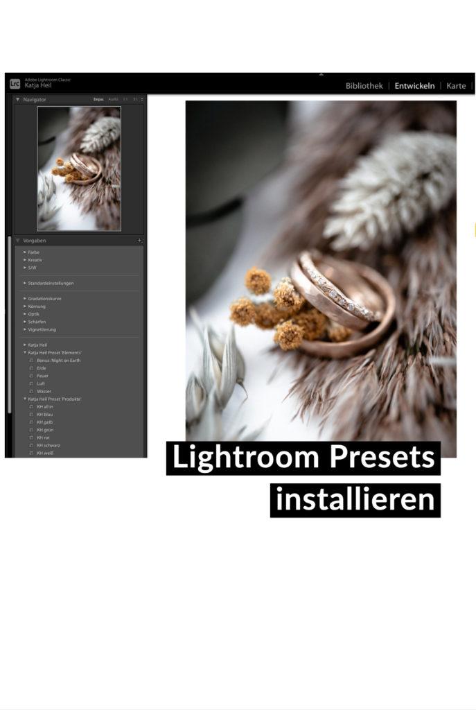 Lightroom Presets installieren
