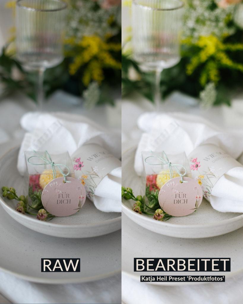 Produktfoto in Lightroom bearbeiten. Vorher-nachher Vergleich.  https://www.katjaheil.de/produkt/preset-produktfotos/