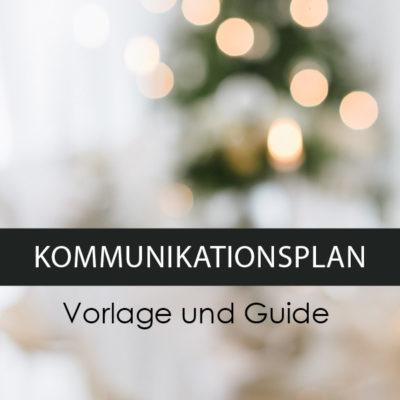 Kommunikationsplan Vorlage Guide