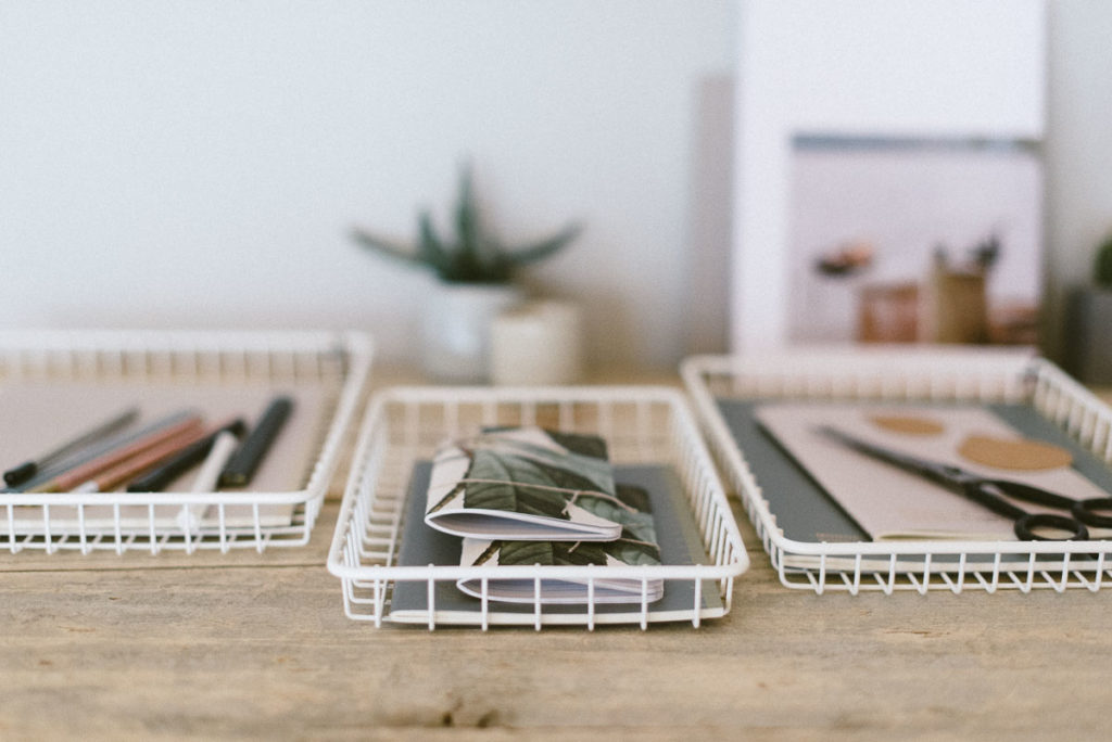 Metallkorb Set weiss flasch Huebhsc Interior